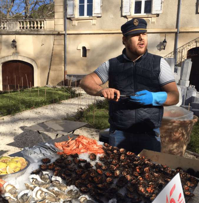CHÂTEAU CAPION CELEBRATES SEA URCHIN SEASON