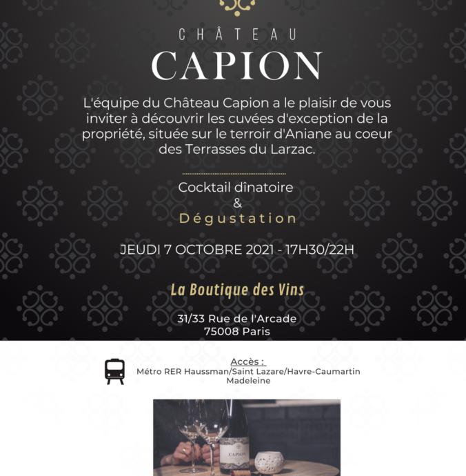 Soirée de dégustation à PARIS  7 octobre 2021 - 17h/22h